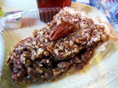 Pecan pie from Your Mama's Good Food in Little Rock.  http://www.arktimes.com/EatArkansas/archives/2011/03/11/pieday-pecan-at-your-mamas-good-food  Arkansas food