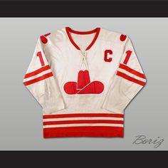 Boriz Customs - Danny Lawson Calgary Cowboys WHA Hockey Jersey 107f501b2