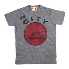 Men's Rip City Grey Tri Blend T-Shirt