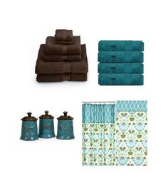 Dark Brown And Teal Bathroom Towels Patterned Towel Accessories Better Homes Large Mini Ideas Pinterest