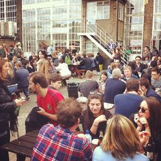 The secret beer garden at the truman building Boiler House Food Hall