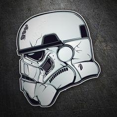 Pegatinas: Casco Stormtrooper #friki #TeleAdhesivo