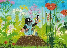 Krtek (the little mole) character created by  Zdeněk Miler in 1956