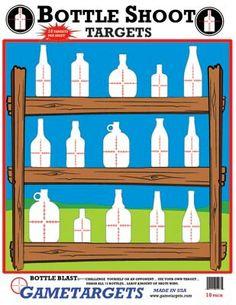 Бутилки мишени Shooting Club, Shooting Practice, Shooting Sports, Shooting Games, Shooting Range, Archery Games, Archery Targets, Paper Shooting Targets, Bottle Shoot