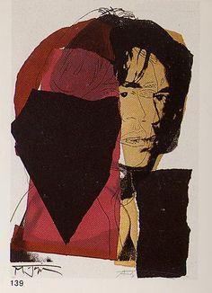 Mick Jagger - Andy Warhol. Pop Art. 1975.