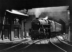 Rugby to Nottingham train arriving at Nottingham Victoria on 31 July 1965. Photo by Tom Boustead.