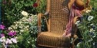 Antique Wicker Rocking Chair in a Flower Garden summer home flowers garden plants pond gardening ideas vegetable garden outdoor projects raised beds Garden Chairs, Garden Furniture, Wicker Furniture, Garden Seating, Garden Table, Furniture Sets, Beautiful Gardens, Beautiful Flowers, Beautiful Cover