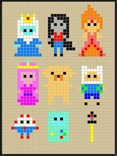 Adventure Time perler bead patterns designed by Rosealine Black sjgf, cc, an