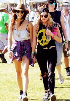 Coachella Style Report  Troian Bellisario & Ashley Benson