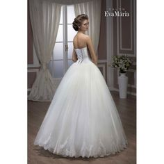 Svadobné šaty s krajkovaným vrškom a širokou sukňou Leila Formal Dresses, Wedding Dresses, One Shoulder Wedding Dress, Salons, Fashion, Mariage, Dresses For Formal, Bride Dresses, Moda