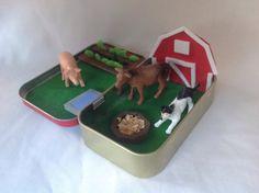Farm ToyAltoids PlaysetStocking StufferAltoid Tin by kattymoon