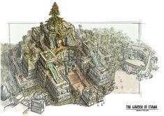 The Garden of Etana, Andhika Pudjiadi on ArtStation at https://www.artstation.com/artwork/B6d4