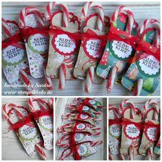 Zuckerstangen-Verpackung für Nikolaus - Stempelklecks - Stempeln, Stanzen und Basteln mit Stampin' Up! -