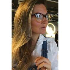 Instagram photo by ladybirdsnest - Prada Journal  Little Miss Goggles got her new nerdy glasses on! #prada #pradajournal #brilleslange #nerdy #ladybirdsnest