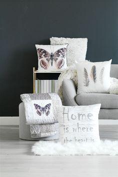 Koristetyyny LUND 45x45cm höyhen valk.   JYSK Furniture Showroom, Lund, Horn, My House, Throw Pillows, Living Room, Inspiration, Lotus, Biblical Inspiration