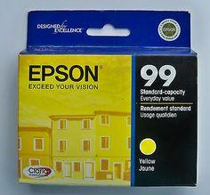 Genuine Epson 99 Inkjet Ink Cartridge T099320 OEM Yellow NIP EXP Jan 2012