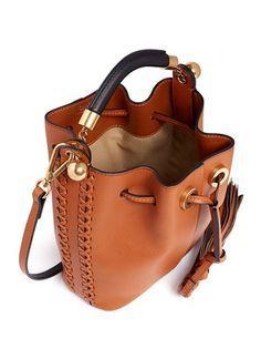 Chloe Gala Braided Leather Bucket Bag