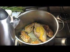 El caldo de  pollo de la dieta en la que baje de peso