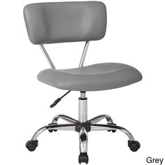 Office Star Vista Task Office Chair In Purple Vinyl by Ave Six® Office Star, Grey Office, Hobby Lobby, Feng Shui, Girly, Grey Chair, Chair Upholstery, Decoration, Seat Cushions