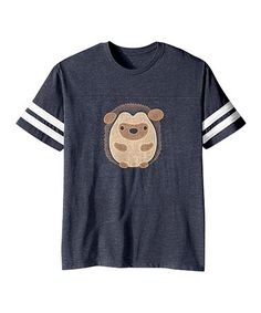 bcf64e84e Vintage Navy Round Hedgehog Football Tee - Toddler & Kids #zulily  #zulilyfinds Cute