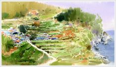 Shin Jong Sik is an artist and is the first time user of Mission watercolor in Korea. He had used 3 different brands of imported watercolor paints until when he wholly turned to Mission after monitoring Mission watercolor. Watercolor Mixing, Gold Watercolor, Watercolor Artwork, Watercolor Landscape, Landscape Paintings, Drawing Sketches, Drawings, Korean Art, Art Blog