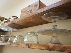 Roses and Rolltops : Scaffold Board Kitchen Shelves