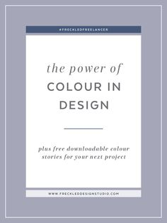 Learn about power psychology and use the power of colour in your design.