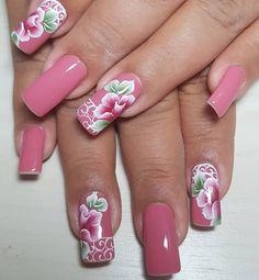 Love Nails, Dandy, Yuri, Close Up, Nail Designs, Nail Art, Dark Nails, Flower Nails, Chic Nails