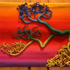 fiber art  roots or branches? grown, sewn in full color!