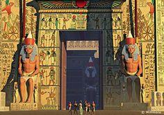 Karnak temple reconstruction