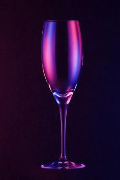 Purple wine glass!!! Bebe'!!! Pretty purple!!!