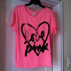 Victoria secret top Great condition. You could wear it off the shoulder. PINK Victoria's Secret Tops Tees - Short Sleeve
