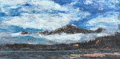 Almost Heaven, encaustic landscape by Lee Anne LaForge | Effusion Art Gallery + Cast Glass Studio, Invermere BC Bear Paintings, Cute Paintings, Cast Glass, Canadian Artists, Painted Doors, Winter Landscape, Landscape Paintings, Art Gallery, Heaven