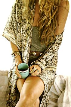 Cute cardigan robe :) love the vintage look