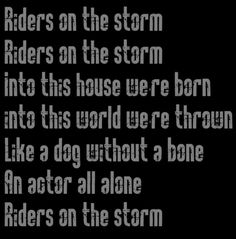 The Doors - Riders on the Storm - song lyrics, music, quotes