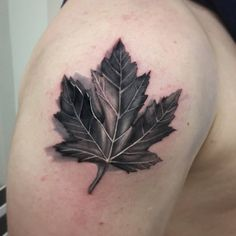 Chronic Ink Tattoo - Toronto Tattoo Maple leaf tattoo done by Martin.