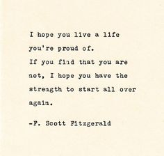 Inspirational Quote THE F. SCOTT FITZGERALD - Quote Made On Cardstock with Vintage Typewriter quotes quotes deep quotes funny quotes inspirational quotes positive Book Quotes Love, Quotes Dream, Now Quotes, Typed Quotes, Life Quotes Love, Change Quotes, Words Quotes, Quotes To Live By, Funny Quotes