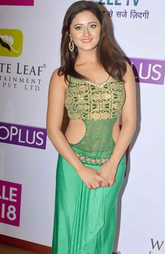 Utaran actress Rashmi Desai wore a green outfit at Gold Awards. #Style #Bollywood #Fashion #Beauty