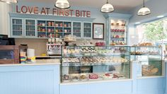 At first bite' bakery decor, bakery interior, bakery cafe, cake shop i Cake Shop Interior, Bakery Interior, Cafe Interior Design, Cafe Design, Cake Shop Design, Coffee Shop Design, Bakery Design, Bakery Store, Bakery Cafe