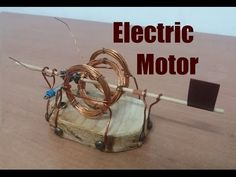 How to make an Electric Motor open fram | Tutorial - YouTube