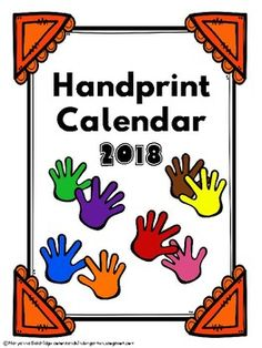 Giving parents the gift of their child's hand print is always priceless. I make a hand print calendar for my students to give their parents every holiday season. This product has the calendar template for 2018 and ideas for hand prints for each month.