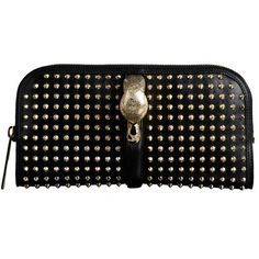 Burberry Country Animal Studded Clutch Bag ($3,295) ❤ liked on Polyvore