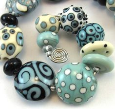 Nevada Sky Lampwork Bead Set by chestnutridgedesigns #glass #lampwork #beads