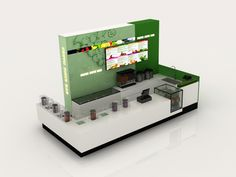 Juice Bar with covers for vitamin