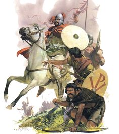 6th Century British Warriors - Illustrated by Agnus McBride (source - Arthur and the Anglo-Saxon Wars)