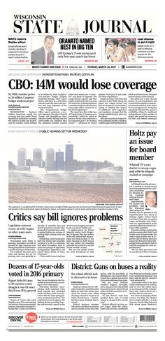 Front Pages in Michigan, Pennsylvania, and Wisconsin Highlight the Devastating Effects Trumpcare Would Have - American Bridge PAC