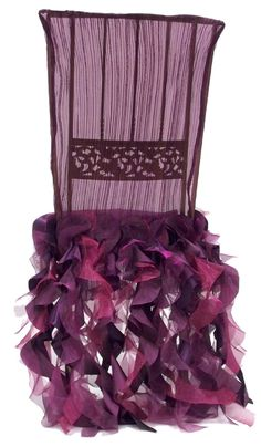 Curly Willow Plum Chivari Chair Cover
