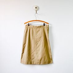 vintage 1970s tan khaki uniform skirt by RockAndRollVintage, $14.00