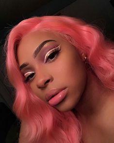 Hair Grade: Magic Love Hair Unprocessed Virgin Human Hair Hair Length: inches In Stock Hair Color: Black Girl Makeup, Girls Makeup, Glam Makeup, Makeup Inspo, Makeup Inspiration, Beauty Makeup, Eye Makeup, Hair Beauty, Black Girl Pink Hair