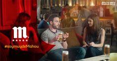 Este anuncio es de la cerveza Mahou. En este anuncio nos dicen que es mejor tomar una Mahou con amigos que solo, te lo pasarás genial con tus amigos.